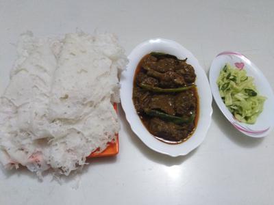 Duck Bhuna With Chita Roti