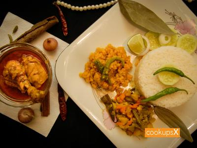Daily Lunch Set Menu w/ Chicken Curry (4 persons) - CookupsX Economy Meals