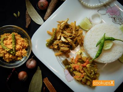 Daily Lunch Set Menu w/ Beef Curry (4 persons) - CookupsX Economy Meals